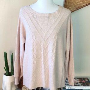 Lucky Brand Soft Pink sweater xl